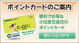 小田原百貨店ポイントカードのご案内